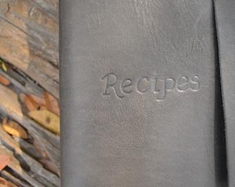 Leather Recipe Book FREE Personalization
