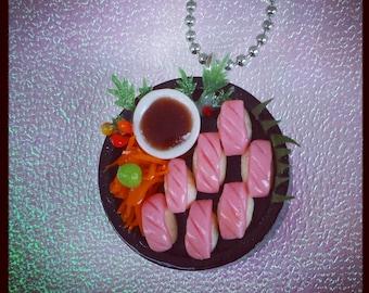 Maguro Tuna Nigiri Sushi Platter Necklace