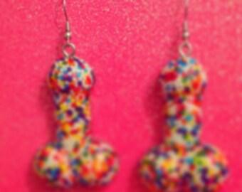 Sprinkle Weenie Earrings (Censored)