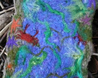 Tidepool - Felted Wool Wall Hanging