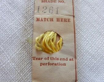 Antique 1904 Silk Embroidery Floss Belding Bros. Royal Floss Silk Gorgeous Lemon