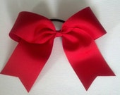 Large Cheer Bow, Red Cheer Bow