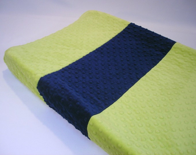 Apple Green Changing Pad Cover with Stripe