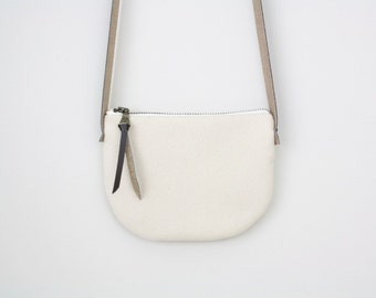 Crossbody Bag, White Crossbody, Vegan Crossbody