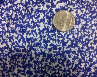 Royal Blue Mottled Rayon Fabric