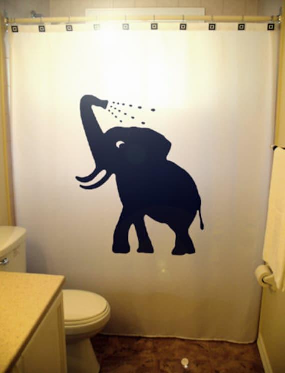 Bathing baby elephant shower curtain bathroom decor kids bath for Elephant bathroom accessories