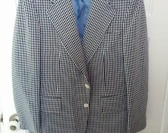 disco polyester men jacket blazer suit coat grunge knit medium large 40