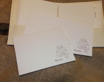 Hoot Owl Thank You Cards (Set of 10)