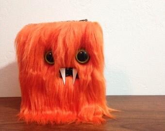 Orange Mini-Monster Journal- Two Green Eyes