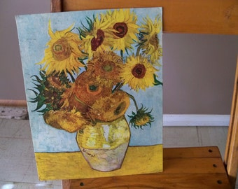 sunflowers by van gogh  litho