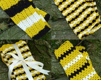 Bumblebee Dishtowel Set - PDF Crochet Pattern - Instant Download