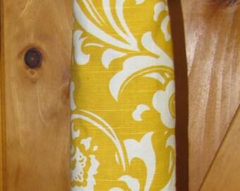 Plastic Bag Holder, Garbage Bag Holder-Yellow Floral-FREE SHIPPING