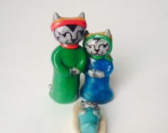 Cat Nativity Set
