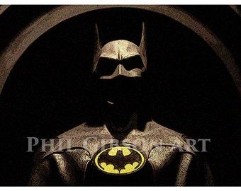 "Original ""The Bat""  Batman Art Print Poster 1989 Tim Burton"