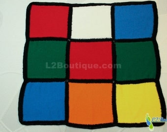 Rubik's Cube Blanket