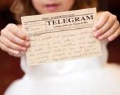 vintage telegram guest book cards - printable file
