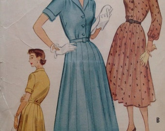 Vintage 1950's McCall's 9438 Dress -size 20