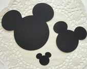 Mickey Mouse Head Die Cuts Perfect for All Your Mickey Themed Party Needs Invitations, Banners, Thank you Cards or Confetti