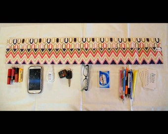 Easy-to-Use Chevron Purse Organizer - Pink, Purple and Gold