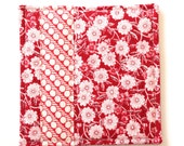 Coasters Linen and Cotton  Made with  Radiant Reds  Set of 4