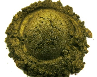 Molten Metals-Loose Mineral Eyeshadow-Gold Olive