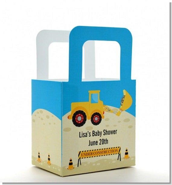 Baby shower favor boxes construction truck personalized custom il570xn negle Image collections
