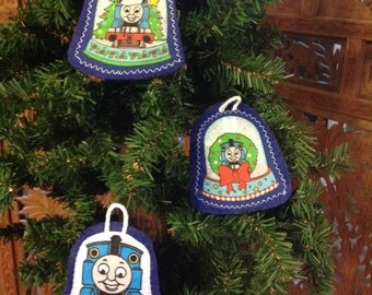 Thomas the Train inspired ornament set of 3 ( not a licensed product) set 1