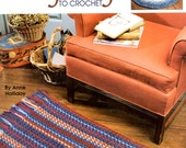 Easy Rugs to Crochet Round Rectangular Stripes Checks Plaids Checks Rag Look Fringed Craft Pattern Leaflet Leisure Arts 3274