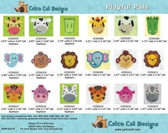 Playful Pals Machine Embroidery Designs