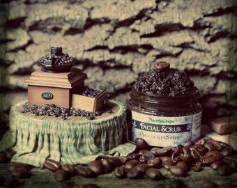 Mocha Facial Scrub. Chocolate Coffee Organic Face Scrub - yummy delicious exfoliant for face