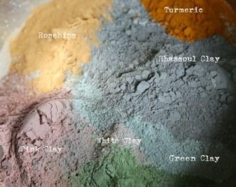 Herbal Facial Care Detox Mask - Vegan Facial Clay mask 1.7 oz