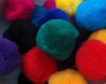 50 Assorted Colors Variety Pack 1 Inch Pom Poms For Crafting