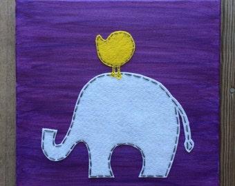 Elephant and Bird Friend