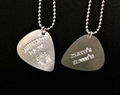 2 for 25 2015 ShipRocked Surgical Steel Guitar Pick on Ball Chain