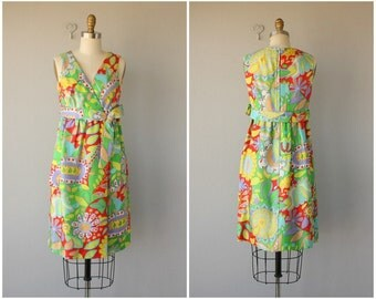 Vintage 1960s Dress | 60s Cocktail Dress | Printed Silk Dress 60s | 1960s Party Dress | 60s Dress