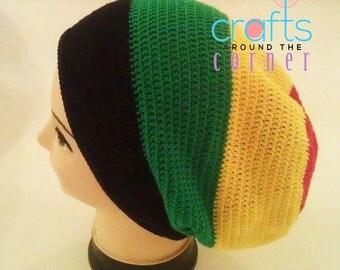 Crochet Rasta Hat Pattern- Beanie - African - PDF - Tam - Dreadlocks