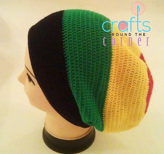 Crochet Rasta Hat Pattern Beanie African PDF Tam