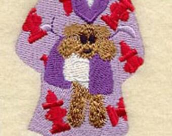 DOG IN PAJAMAS - Machine Embroidered Quilt Blocks(AzEB)