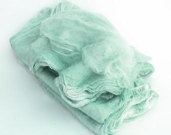 Mawatas Silk Hankies Turquoise Light - 16 grams