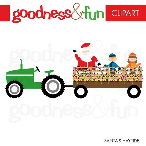 Buy get free santa s hayride christmas clipart