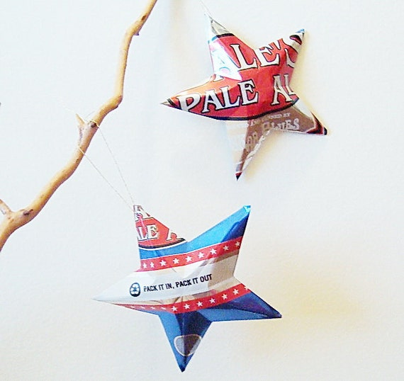 Dales Pale Ale  Beer Stars Ornaments Aluminum Can Upcycled