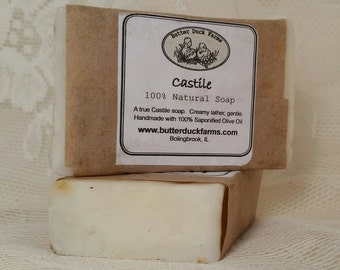 Castile 100% Pure Olive Oil Soap - Gentle - Unscented