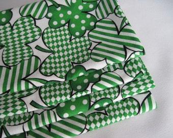 St Patricks Day Napkins Set Shamrock Napkins Green Napkins Green Clover Napkins St Pattys Day Dinner Napkins March Seasonal Napkins Green