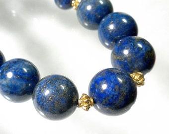 Blue Lapis Necklace, Lapis Lazuli Necklace, Lapis Jewelry