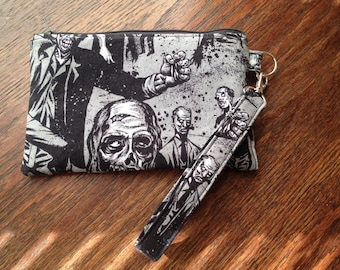 Zombie Wristlet with Blood Spatter Lining