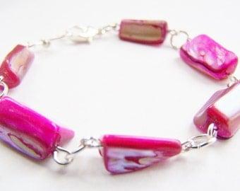 Fresh Berries: Mother of Pearl Bracelet - A beautiful gift - weddings bridesmaids - affordable gifts - beach treasures - preppy - ocean