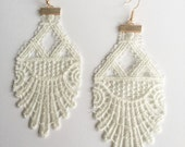Bone White Venise Lace Earrings—FREE SHIPPING!