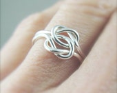 Promise Ring / Sterling Silver Love Knot Ring / Celtic Knot Ring / Memory Ring / Argentium Silver Ring / Wedding Ring