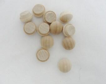 "Small button plug, miniature button plug, 3/8"" button plug set of 12"