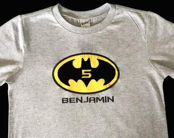 Personalized BATMAN Birthday Shirt - Any Age by Sprinkles of Love